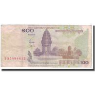 Billet, Cambodge, 100 Riels, 2001, KM:53a, TB+ - Cambodia