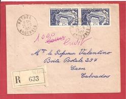 Y&T N°881X2 RETHEL   Vers   CAEN    1951 2 SCANS - France