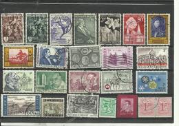 Lot De 24 Timbres De Belgique Années Diverses. - Stamps