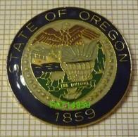 STATE OF OREGON 1859 ETAT Des USA AIGLE PYGARGUE CHARIOT Du FAR WEST - Villes
