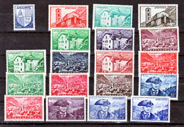Andorre 119 137 Paysages Série Complète Neuve * * TB  MNH Sincharnela Cote 155 - Nuovi