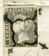 LSC Avec N°1 Et Dateur Rouge De LORCA Du 25/05/1850 - 1850-68 Kingdom: Isabella II