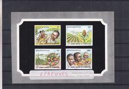 Rwanda - COB 1094 / 1101 - 4 épreuves De Couleurs -journée De L'alimentation - Fruits-bananes-fraises-tomates - Rwanda