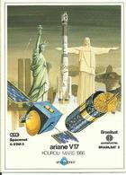 Autocollant Lancement ARIANE V17 Du 28 Mars 1986 - ARIANESPACE - ESPACE - Aufkleber