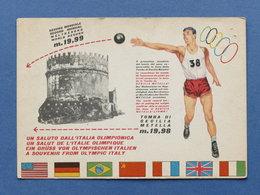 Cartolina Sport Atletica - Olimpiadi Di Roma 1960 - Record Lancio Del Peso - Cartoline