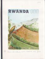Rwanda - Aquarelle Sére COB 1159 / 68 - Lutte Contre L'érosion-haies De Culture Anti érosives-Oscar Bonnevalle-UNIQUE - Rwanda