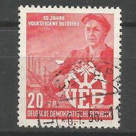 DDR, 10 Jahre Volkseigene Betriebe, Nr. 527 Y II Gestempelt, Mit Befund BPP - DDR