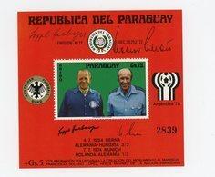 Paraguay 1976-Coupe Du Monde De Football Allemagne-Herbeeger,SchonMI B269***MNH - Coupe Du Monde