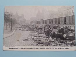 ANTWERPEN STEENPLAATS Aftocht Belgisch Leger ( Cliché Mauquoy ) War / Guerre 1914 ( Zie Foto's ) Bombardement ! - Guerre 1914-18