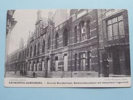 ANTWERPEN-ZURENBORG Groote Hondstraat Hospitaal ( Cliché Mauquoy ) War / Guerre 1914 ( Zie Foto's ) Bombardement ! - Weltkrieg 1914-18