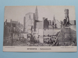 ANTWERPEN SCHOENMARKT ( Cliché Mauquoy ) War / Guerre 1914 ( Zie Foto's ) Bombardement ! - Guerra 1914-18