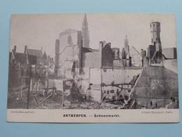ANTWERPEN SCHOENMARKT ( Cliché Mauquoy ) War / Guerre 1914 ( Zie Foto's ) Bombardement ! - War 1914-18