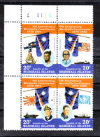 Marshall - 1984. Costituzione: Bandiere Di Marshall, Usa,Giappone, Onu. FFags Of Marshall, Usa, Japan, Un. MNH - Francobolli