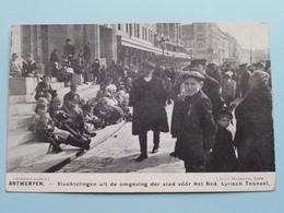 ANTWERPEN Vluchtelingen V/h Ned. Lyrisch Toneel ( Cliché Mauquoy ) War / Guerre 1914 ( Zie Foto's ) Bombardement ! - Guerre 1914-18