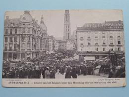 ANTWERPEN Aftocht Belgisch Leger ( Cliché Mauquoy ) War / Guerre 1914 ( Zie Foto's ) Bombardement ! - Guerre 1914-18