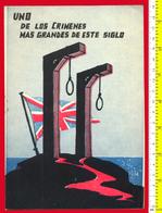Μ3-33900 The Crimes Of The English In Cyprus. Brochure 1950s (in Spanish) 8 Pg. - Books, Magazines, Comics