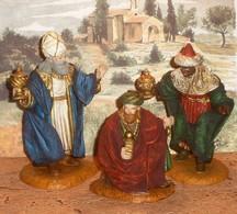 Créche =   Les Rois Mages   H 11 Résine (Oliver)  3 Sujets Réalistes - Art Populaire