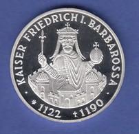 Bundesrepublik 10DM Silber-Gedenkmünze 1990 Kaiser Friedrich I. Barbarossa  PP - [ 7] 1949-… : RFA - Rép. Féd. D'Allemagne