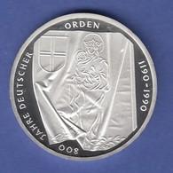 Bundesrepublik 10DM Silber-Gedenkmünze 1991  800 Jahre Deutscher Orden  PP - [ 7] 1949-… : RFA - Rép. Féd. D'Allemagne