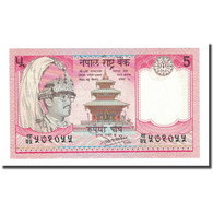 Billet, Népal, 5 Rupees, Undated (1987), KM:30b, NEUF - Népal