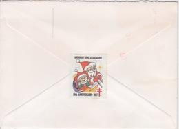 1987 - STORIA POSTALE - AMERICA - USA - AIR MAIL - USPO - TALLAHASSEE FLORIDA - + VIGNETTE 80 ° ANNIV. LUNG ASSOCIATION - Amérique Centrale