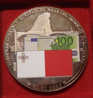 MALTA. MEDAILLE 100 EURO 2002. EUROPE. NEUVE. - Entriegelungschips Und Medaillen