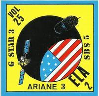 Autocollant Lancement ARIANE V25 Du 8 Septembre 1988 - CLUB PHILATELIQUE KOUROU - ESPACE - Aufkleber