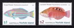 Norfolk Island 2018 Wrasses - Fish Set Of 2 MNH - Norfolk Island