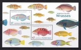 Norfolk Island 2018 Wrasses - Fish Minisheet MNH - Norfolk Island