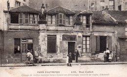 CPA, Paris D'autrefois, 110 Rue Callot, Groupe De Vieilles Maisons Faisant Vis à Vis Au Viaduc D'Auteuil, Animée - Autres