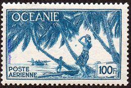 Océanie N° PA  18 ** Hydravion - Tahitienne Sous Les Palmiers - Océanie (Établissement De L') (1892-1958)