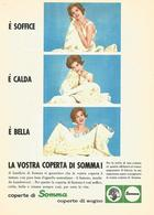 # COPERTE LANIFICIO SOMMA LOMBARDO 1950s Advert Pubblicità Publicitè Reklame Wool Laine Lana Woll - Other