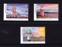 Australia 2018 Lighthouses Of Sydney Set Of 3 MNH - 2010-... Elizabeth II