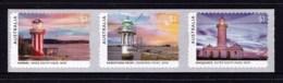 Australia 2018 Lighthouses Of Sydney Set Of 3 Self-adhesives MNH - 2010-... Elizabeth II