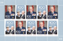 Australia 2018 Repatriation - 100 Years Sheetlet MNH - 2010-... Elizabeth II
