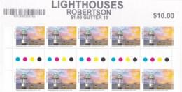 Australia 2018 Lighthouses Of Sydney Set Of 3 Gutter Blocks Of 10 MNH - 2010-... Elizabeth II