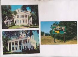 3 CPM    , MISSISSIPI , STANTON HALL , D EVEREUX MANSION - Autres