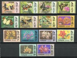 Selangor 1971/79 Mi. 105-117 Neuf ** 100% Papillons, Fleurs - Malaysia (1964-...)