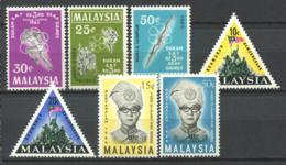 Malaisie 1965-66 Mi. 27-33 Neuf ** 100% Sport, Monument, Roi Ismail Nasiruddin - Malaysia (1964-...)