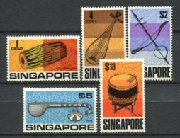 Singapour 1969 Mi. 107-111 Neuf ** 100% Instruments De Musique - Singapour (1959-...)