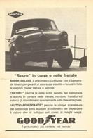 # GOODYEAR ALFA ROMEO GIULIETTA 1950s Car Tires Italy Advert Pub Pubblicità Reklame Pneumatici Pneus Reifen Neumaticos - Vervoer