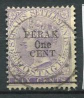 Perak 1891 Mi. 12 Oblitéré 100% Surimprimé - Perak