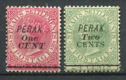 Perak 1891 Sans Gomme 100% Surimprimé - Perak