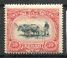 Kedah 1912 Mi. 8 Neuf * 60% 30 C - Kedah