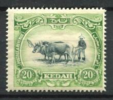Kedah 1912 Mi. 7 Neuf * 100% 20 C - Kedah
