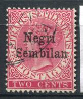 Malacca 1891 Mi. 1 Oblitéré 100% 2 C, La Reine Victoria - Negri Sembilan