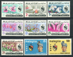 Malacca 1965/68 Mi. 79-87 Neuf ** 100% Orchidées, Fleurs, Tuanku Ja ' Afar - Negri Sembilan