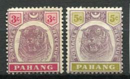 Pahang 1895 Mi. 8-9 Sans Gomme 100% Tigre - Pahang