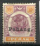 Pahang 1898 Mi. 10 Sans Gomme 100% Surimprimé Tigre - Pahang