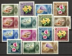 Maldives 1966 Mi. 172-186 Neuf ** 100% Flore Et Faune - Maldives (1965-...)